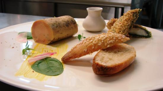 les jardins d'Aliénor : Foie gras passion et Langoustines au Sésame -  - Jardins Aliénor - hotel restaurant ile oleron