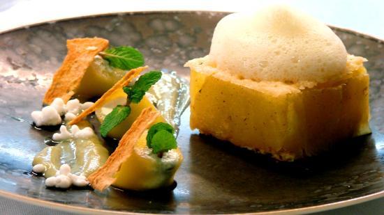 les jardins d'Aliénor : Ananas confit à la Vanille -  - Jardins Aliénor - hotel restaurant ile oleron