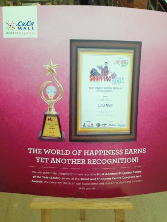 Pz Outlet At Lulu Mall Voted Best Mall In South India Picture Of