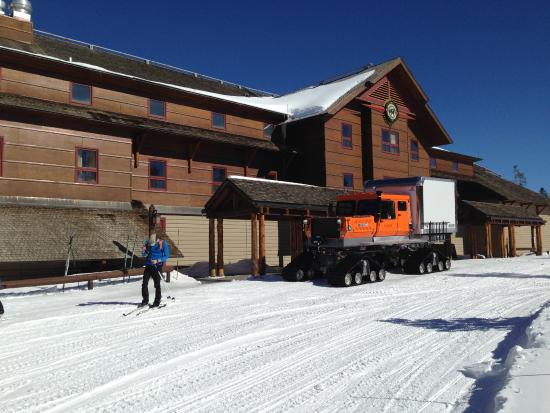lunch spot old faithful snow lodge picture of two top snowmobile rh tripadvisor com