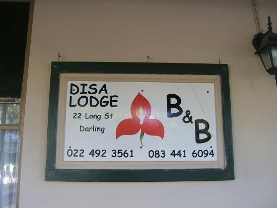 Disa Lodge: The Disa Flower is a landmark along Long Street, Darling.