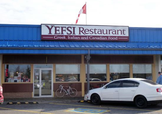 Iroquois, Canada: Exterior of Yefsi from parking lot