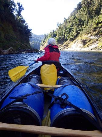 Raetihi, Новая Зеландия: Canoeing down the Whanganui River