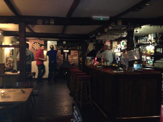 The George Inn: Locals playing darts.