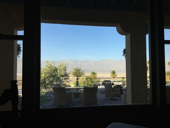 The Inn at Furnace Creek Dining Room: View from a window table