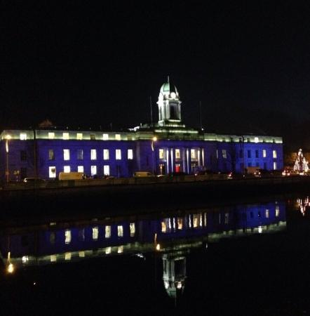 Cork City Hall at night