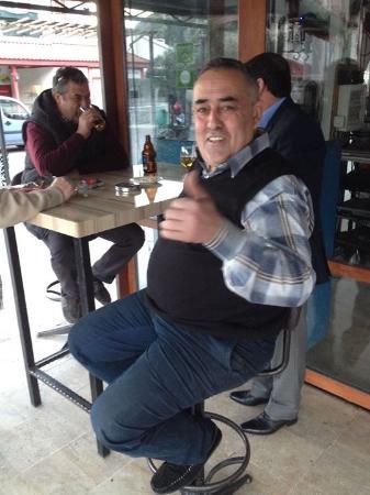 The Three Bells Restaurant Karaoke & Sports Bar: What a barman