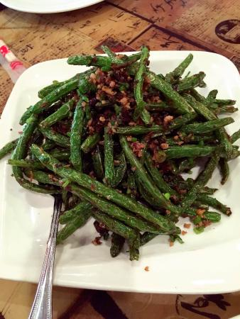 Rez's Ping Pong: These string beans were great with minced meat in it