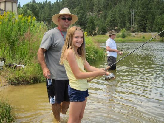 Cascade, ID: Go fishing right off our beach shoreline