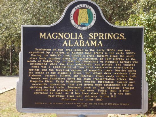 Magnolia Springs, Αλαμπάμα: AL-MAGNOLIA_SPRINGS-MARKER-1