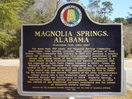 Magnolia Springs, Αλαμπάμα: AL-MAGNOLIA_SPRINGS-MARKER-2