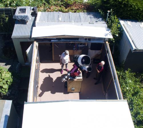 Geraldine Observatory : New large roll on roll off observatory.