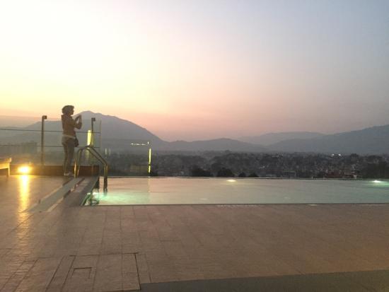 infinity pool at sunset picture of hotel shambala kathmandu rh tripadvisor com