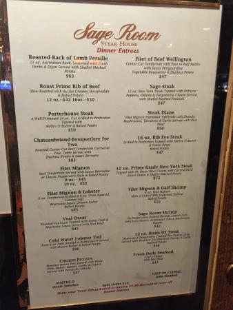 Sage Room Steakhouse Stateline Restaurant Reviews