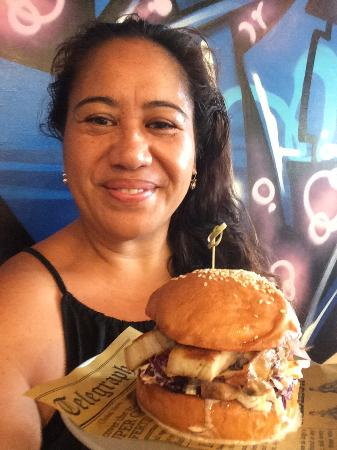 Hello Harry Maroochydore: Pork Belly Burger with coleslaw