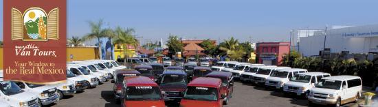 Mazatlan Van Tours: float of vans