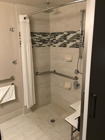 This Was An Accessible Room Had Rain Shower Head And A Hand - Rain shower head with wand
