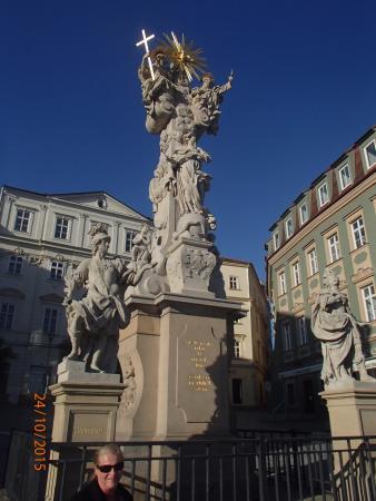 Brno, Republik Ceko: Close up of Statue
