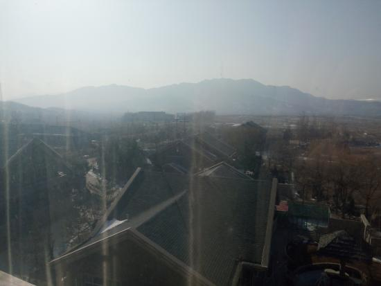 Zhuanghe, China: morning view from room