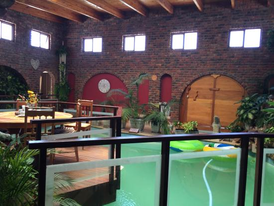 Dolphin View Guesthouse: The cool inside pool area