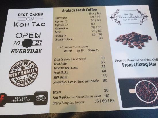 Kuchen und Getränke - Picture of Koh Tao Thai-Riffic, Koh Tao ...