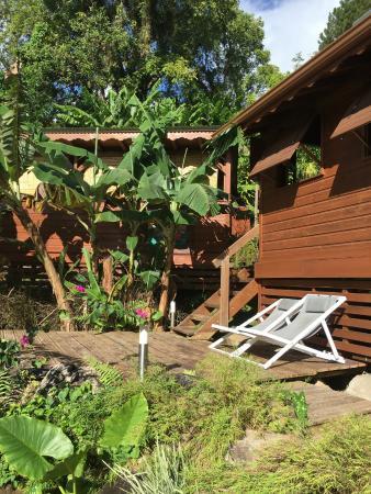 Les Bananes Vertes: Very nice lodge / bungalow number 4