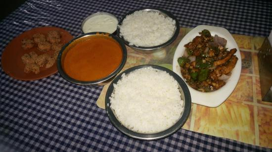 Fish Curry Rice Prawn Fry And Chilli Chicken Picture Of Swetha