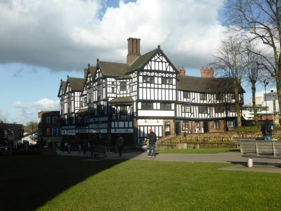 Coventry, UK: Victorian shops Near Lady Godiva Statue