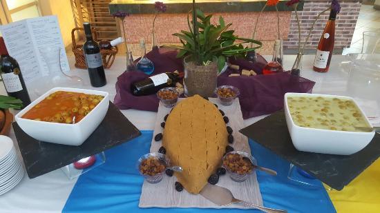 Playa de Cura, Spain: Gofio y olivas con mojo