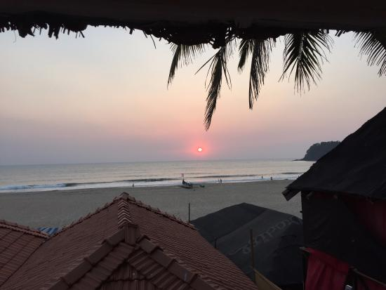 view from elevated beach cottage picture of om sai beach huts rh tripadvisor co uk
