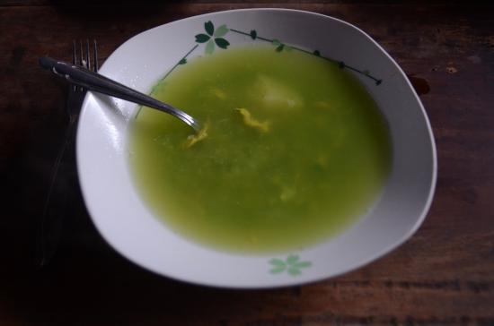 Bosque Berlín: La soupe de Cajamarca, sopa Verde pour commencer le dîner