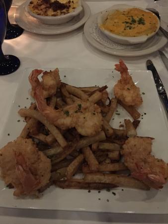 Killen's Steakhouse: Chicken fried steak, jumbo shrimp, chocolate truffle cheesecake