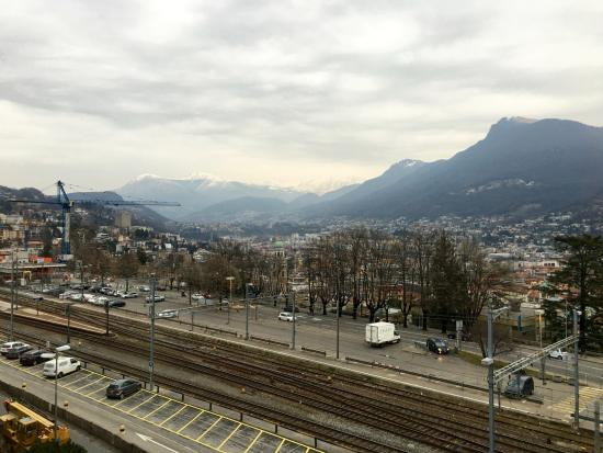 Continental Parkhotel: Train station and parts of Lugano