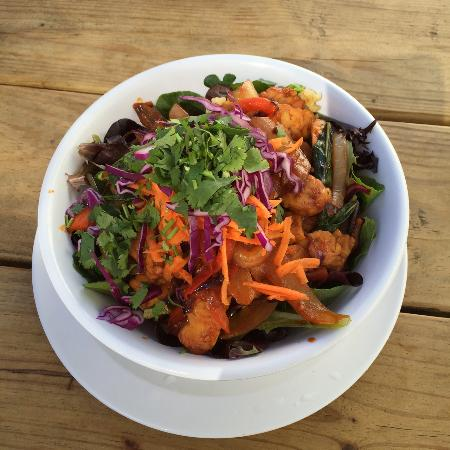 Hip Vegan Cafe: Echo Beach Bowl with grilled tempeh! YUM-YUM!