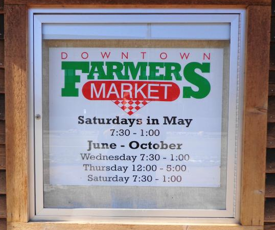 Downtown Farmers Market: The Market's schedule