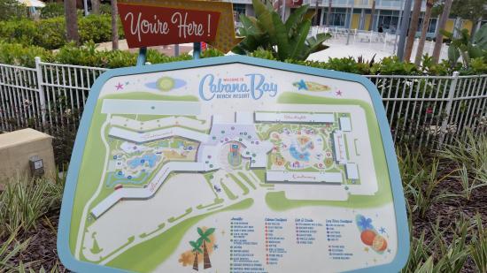Universal S Cabana Bay Beach Resort Map