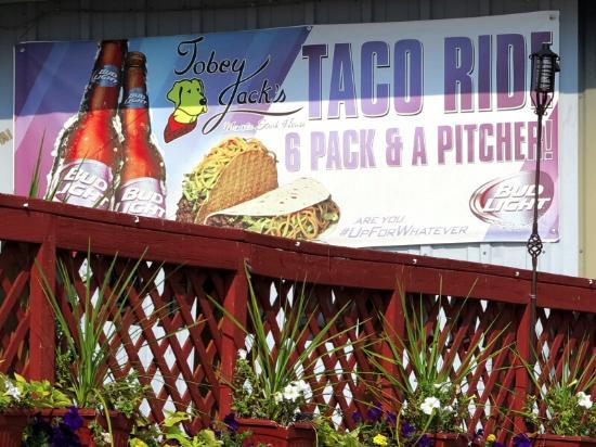Tobey Jack's Mineola Steak House sign