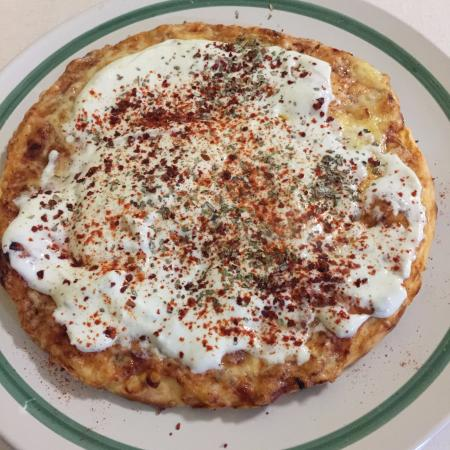 Altenberge, Alemania: Mittlere Pizza Margherita mit Tzaziki