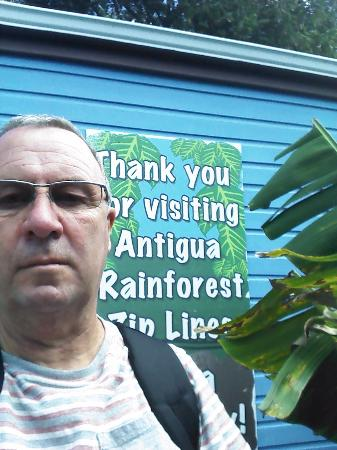 Antigua Rainforest Canopy Tour: Even for old gits