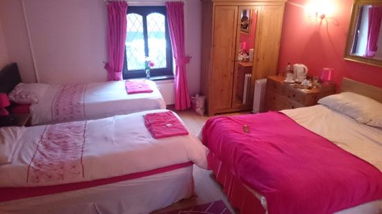 Pentre Riding Stables: Family room, very well maintained