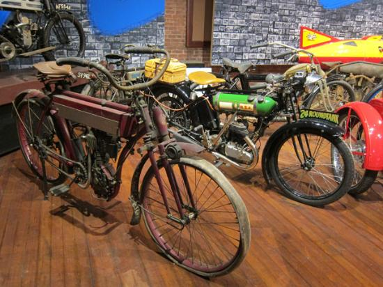 Larz Anderson Auto Museum - Museum of Transportation: Antique Motor Cycles current on display
