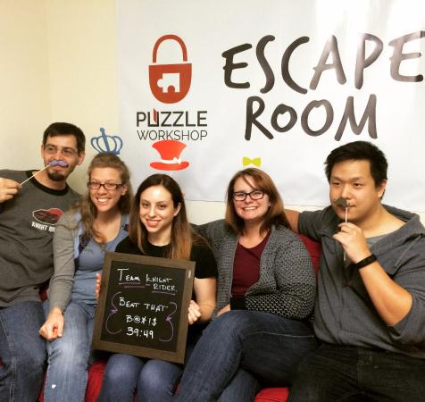 Puzzle Workshop Escape Room: This team showed awesome teamwork to escape!