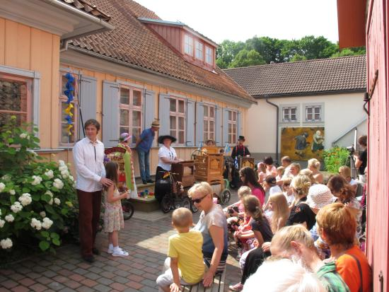 Summertime! Tartu Toy Museum´s court yard.