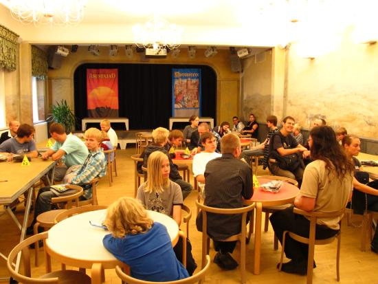 Tartu Toy Museum: The theatre hall as a place for board games.