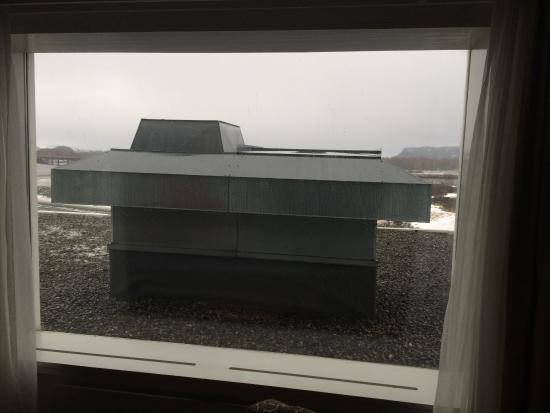 Hell, Norwegia: Utsikt fra rom i 3 etasje