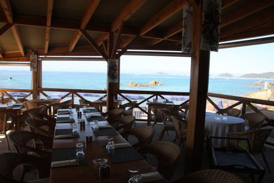restaurant bord de mer photo de h tel cala di sole. Black Bedroom Furniture Sets. Home Design Ideas