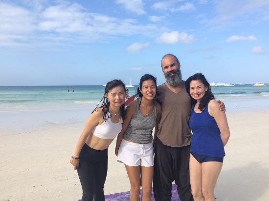 The Beach Meditation Morning Yoga On White Station 1 Boracay