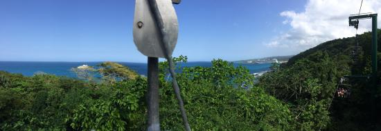 Rainforest Zip Line at Mystic Mountain : View from chair lift to top of mountain