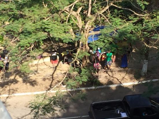 Rainforest Zip Line at Mystic Mountain : Locals working their shop