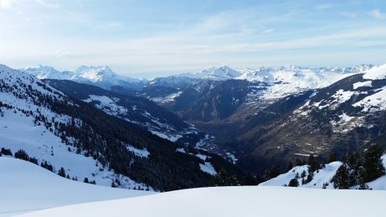 Lourtier, Suiza: La vue sur la Val de Bagne